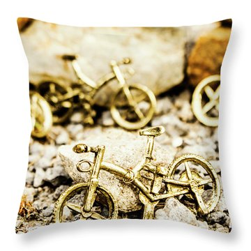 Off Road Bike Trinkets Throw Pillow