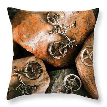 Cyclist Throw Pillows