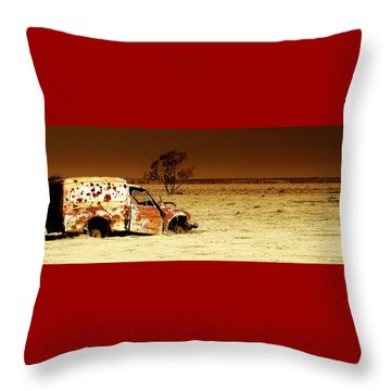 Off Road Throw Pillow by Holly Kempe