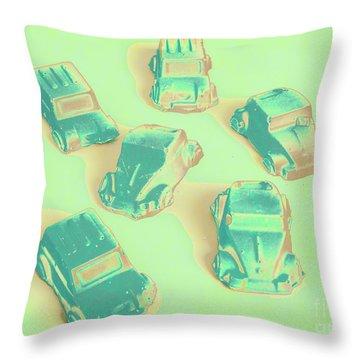 Off Road Retro Rally  Throw Pillow