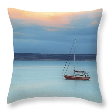 Throw Pillow featuring the photograph Off Sailing by Stephen Mitchell