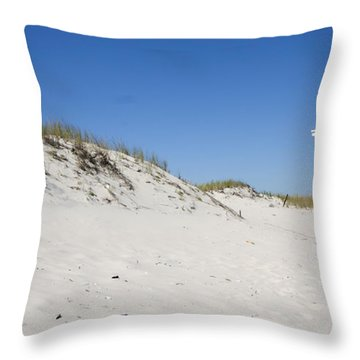 Off-season Beach Throw Pillow