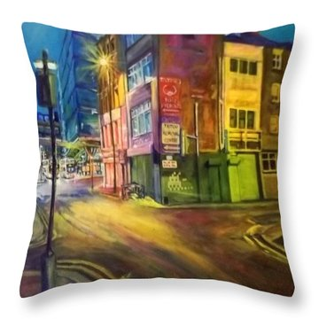Off Shudehill Manchester Throw Pillow