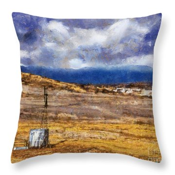 Throw Pillow featuring the digital art Off The Beaten Path I by Rhonda Strickland