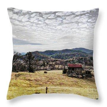 Throw Pillow featuring the digital art Off The Beaten Path II by Rhonda Strickland