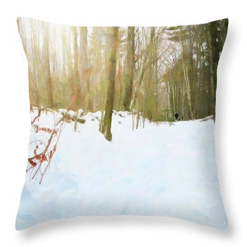 Throw Pillow featuring the digital art Off The Beaten Path by Sue Collura