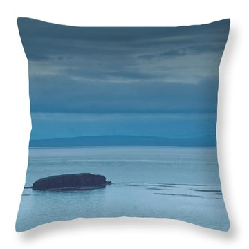 Throw Pillow featuring the photograph Off The Iceland Coast by Joe Bonita