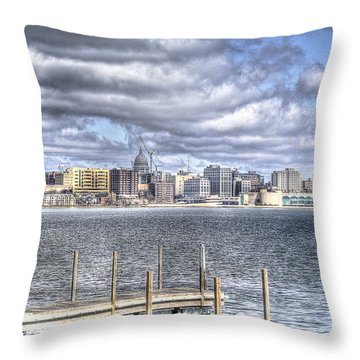 Off The Pier Throw Pillow