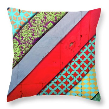 Off The Wall - Pattern 4 Throw Pillow by Colleen Kammerer