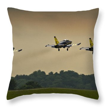 Off We Go Throw Pillow by Angel Ciesniarska