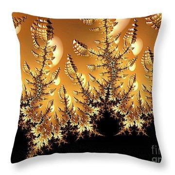 Off-world Garden Throw Pillow