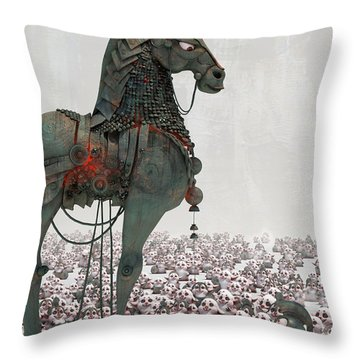 Throw Pillow featuring the digital art Offering by Te Hu