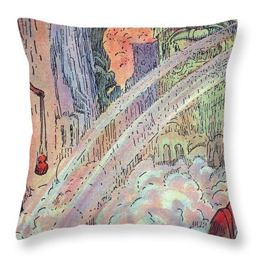 Offering To The Gods Throw Pillow by Hawaiian Legacy Archive - Printscapes