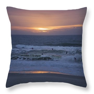 Office View Throw Pillow by Betsy Knapp