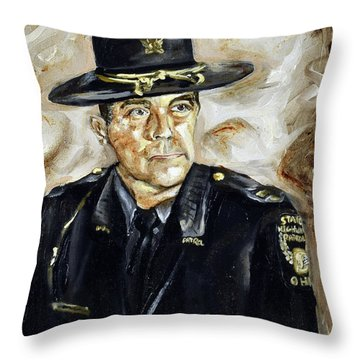 Officer Demaree Throw Pillow
