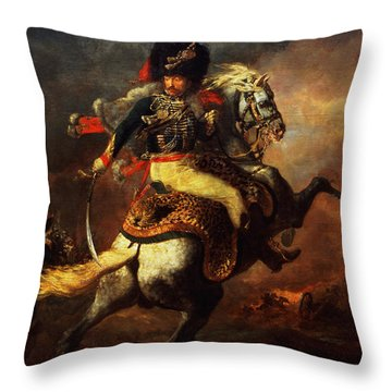 Officer Of The Hussars Throw Pillow