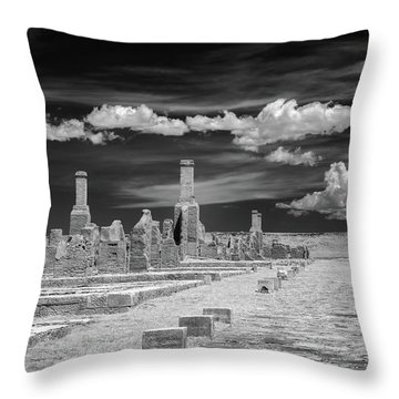 Officers Quarters Throw Pillow by James Barber