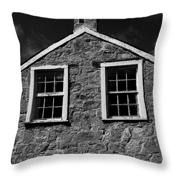 Officers Quarters, Monochrome Throw Pillow by Travis Burgess