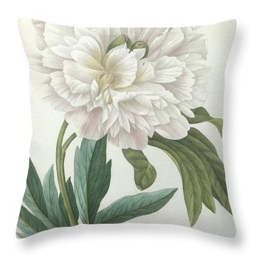 Official Peony Throw Pillow
