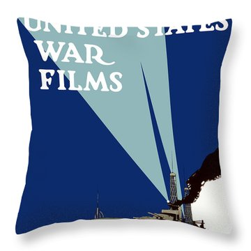Official United States War Films Throw Pillow