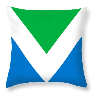 Official Vegan Flag Throw Pillow