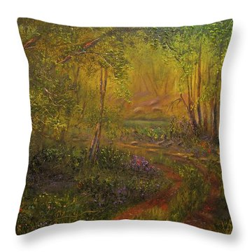 Offroad Drive To The Lake Throw Pillow