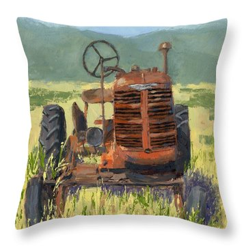 Offset High Crop Throw Pillow
