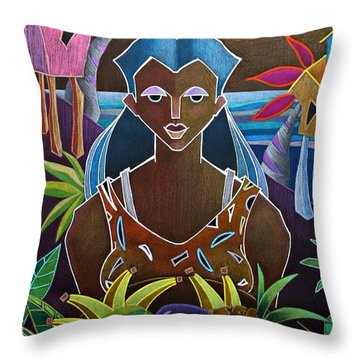 Ofrendas De Mi Tierra II Throw Pillow
