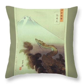 Ogata Gekko Dragon Throw Pillow