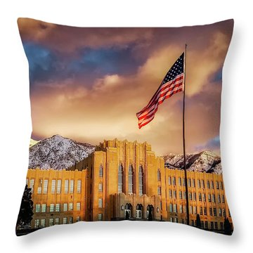 Ogden High School At Sunset Throw Pillow