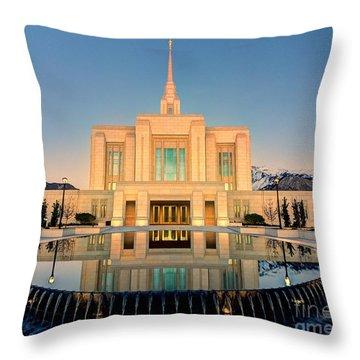 Ogden Lds Temple Throw Pillow
