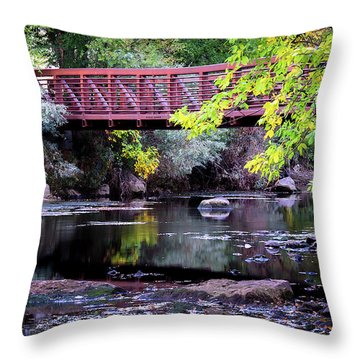 Ogden River Bridge Throw Pillow