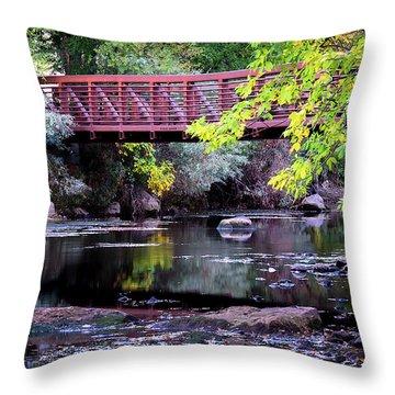 Ogden River Bridge Throw Pillow