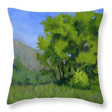 Ogden Valley Meadow Throw Pillow