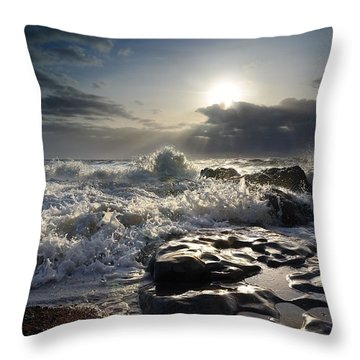 Ogmore By Sea Throw Pillow