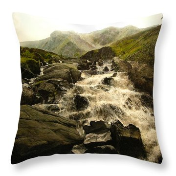 Ogwen Falls Throw Pillow
