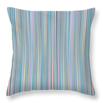 Oh Baby Blue - Stripes Throw Pillow