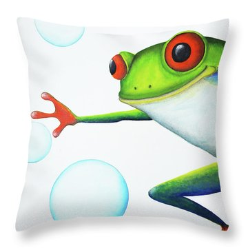 Oh Bubbles Throw Pillow