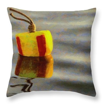 Oh Buoy Throw Pillow by Jeff Kolker