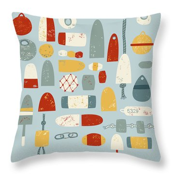 Oh Buoy Throw Pillow