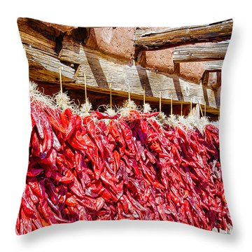 Throw Pillow featuring the photograph Oh Chiles by Daniel George