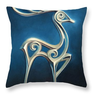 Throw Pillow featuring the painting Oh Deer by Joe Winkler