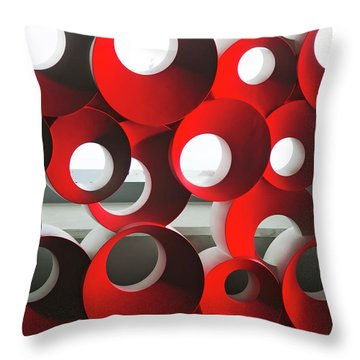 Throw Pillow featuring the photograph Oh by Elvira Butler