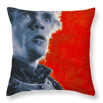 Throw Pillow featuring the painting Tyrion Lannister by Luis Ludzska