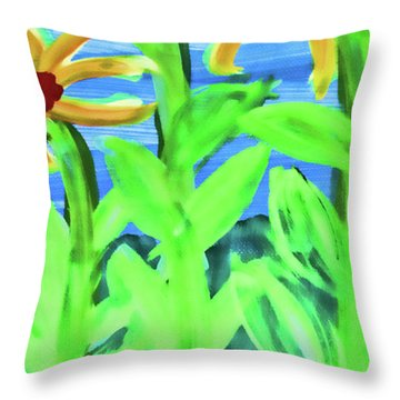Oh Glorious Day Floral Throw Pillow