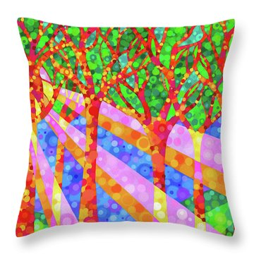 Oh Happy Day Throw Pillow by Jennifer Allison