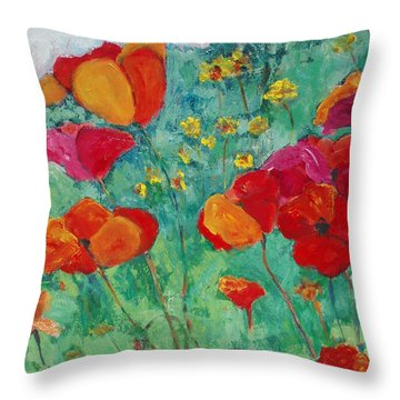 Oh Happy Day Throw Pillow by Tara Moorman