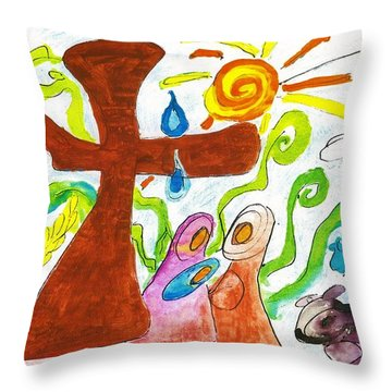 Oh Holy Night Throw Pillow by Martin Cline