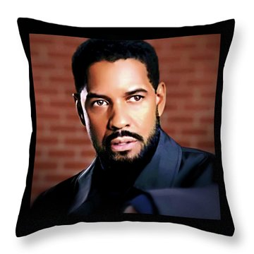 Oh, Lawd Denzel Throw Pillow