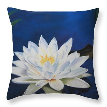 Oh Lily Throw Pillow